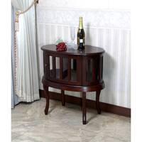 D-Art Oval Mahogany Wood Tea Table (Indonesia)