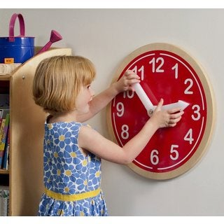 Whitney Brothers Red Kids Wall Clock