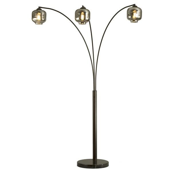 Edison Bulb Fan Floor Lamp: Shop Nova Lighting Thomas 3-Light Arc Lamp With Old-Style
