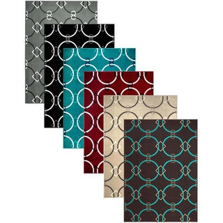 Admire Home Living Demi Circles Area Rug (3'3 x 4'11)