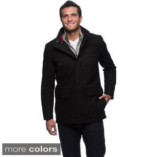 Izod Men's Wool Blend Coat|https://ak1.ostkcdn.com/images/products/9469984/P16652716.jpg?impolicy=medium