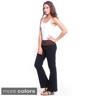 Women's Organic Cotton Classic Yoga Pants (Nepal)
