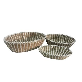 Wald Imports Oval Seagrass Baskets (Set of 3)