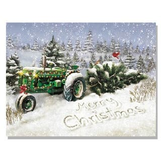 Lighted Christmas Tree Tractor Canvas Art https://ak1.ostkcdn.com/images/products/9470460/P16652958.jpg?impolicy=medium
