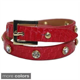 Genuine Snake Leather Belt Style Bracelet