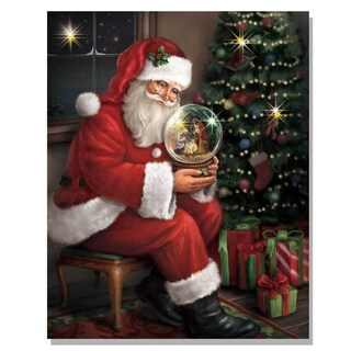 Santa's Favorite Gift' Lighted Canvas Art