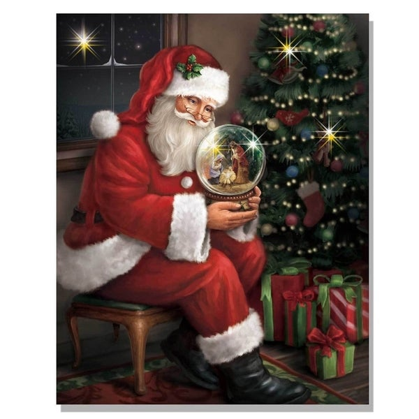 'Santa's Favorite Gift' Lighted Canvas Art
