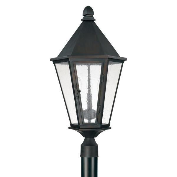 Capital Lighting Spencer Collection 3 Light Old Bronze Outdoor Post Lantern