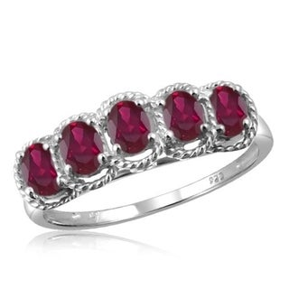 1ct TGW Ruby Gemstone Ring