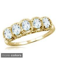Oval-cut Aquamarine Gemstone Ring