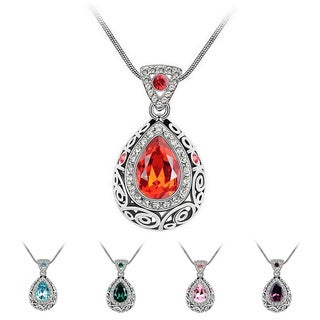 Princess Ice Platinum-plated Antique-style Pendant