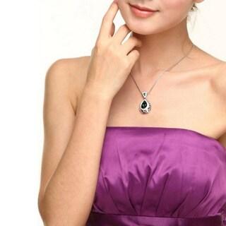 Princess Ice Platinum-plated Antique-style Pendant
