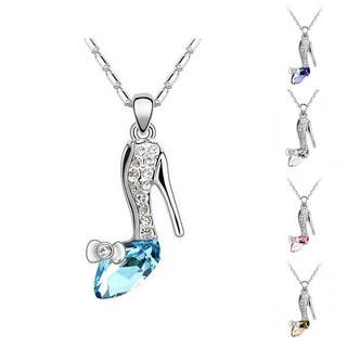 Princess Ice Platinum-plated High Heel Shoe Crystal Pendant|https://ak1.ostkcdn.com/images/products/9471972/P16654489.jpg?impolicy=medium