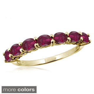 Oval-cut Ruby Gemstone Ring
