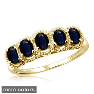 Oval-cut Sapphire Gemstone Braided Ring