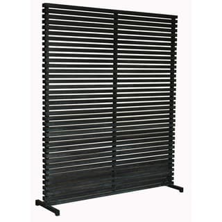 Aurelle Home Dallek Black Wood Screen