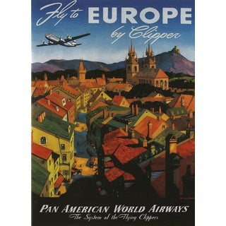 Marmont Hill Art Collective 'Europe Card' Fine Art Canvas Print