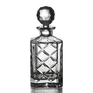 Fitz and Floyd Tufted Square Crystal Decanter