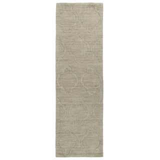 Trends Oatmeal Prints Wool Rug (2'6 x 8'0)
