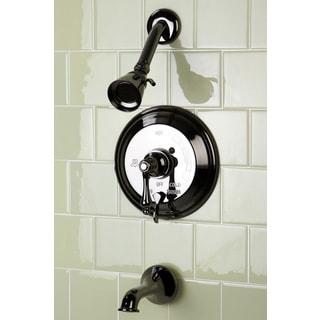 Vintage Black Nickel Pressure Balanced Tub and Shower Faucet