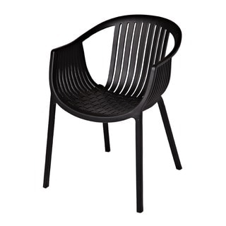 Rowan Black Stackable Accent Chair (Set of 2)