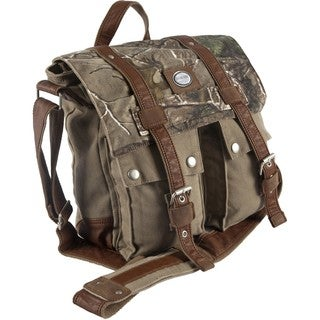 Urban Edge Brown Camouflage Canvas Messenger Bag