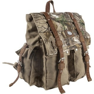 Urban Edge Brown Camouflage Canvas Brief Backpack