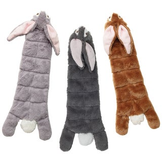 "Skinneeez Multi Squeaker Rabbit 20""-Dark Gray, Light Gray Or Tan"