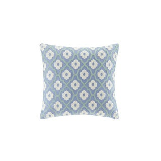 Echo Design Kamala Square Chain Stitching Embroidered Throw Pillow