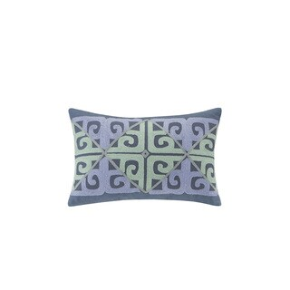 Echo Design Kamala Oblong Embroidered Cotton Throw Pillow