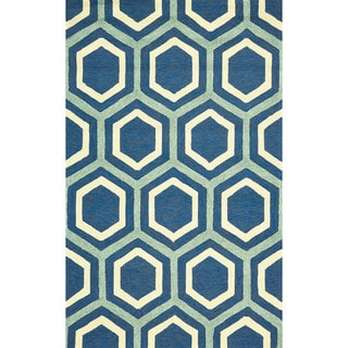 Grand Bazaar Tufted Polypropylene Salvaje Rug in Atlantic 2' x 3'