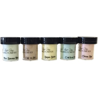 Lindy's Stamp Gang 2-Tone Embossing Powder .5oz 5/Pkg-Tres Chic