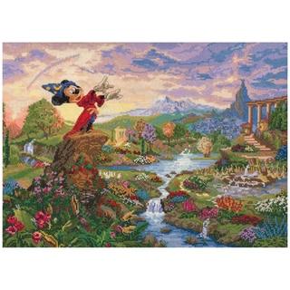 "Disney Dreams Collection By Thomas Kinkade Fantasia-16""X12"" 28 Count"