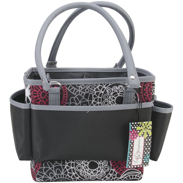 mackinac moon open top square arts and crafts tote bag