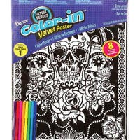 "Color-In Velvet Poster 16""X20""-Day Of The Dead"