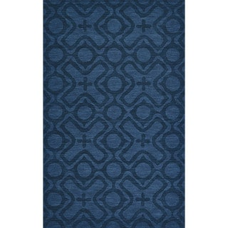 Grand Bazaar Hand Woven 100-percent Wool Pile Rigby Rug in Cobalt 8' X 11'