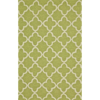 "Grand Bazaar Tufted Polypropylene Salvaje Rug in Green 8'-6"" x 11'-6"""