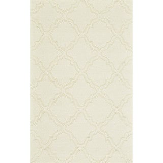 "Grand Bazaar Hand Woven 100-percent Wool Pile Rigby Rug in Ivory 9'-6"" x 13'-6"""