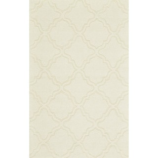 """Grand Bazaar Hand Woven 100-percent Wool Pile Rigby Rug in Ivory 2'-6"""" x 8'"""