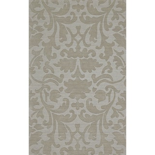 "Grand Bazaar Hand Woven 100-percent Wool Pile Rigby Rug in Light Gray 2'-6"" x 8'"