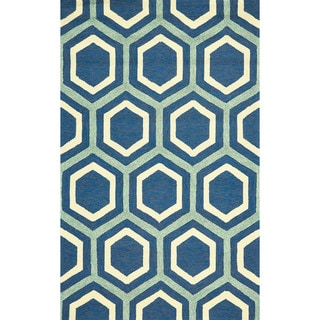 "Grand Bazaar Tufted Polypropylene Salvaje Rug in Atlantic 3'-6"" x 5'-6"""