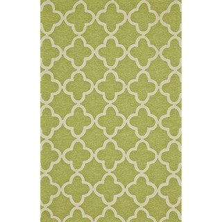 "Grand Bazaar Tufted Polypropylene Salvaje Rug in Green 3'-6"" x 5'-6"""