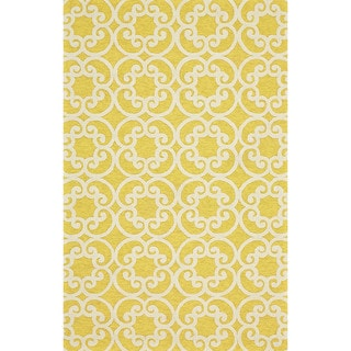 "Grand Bazaar Tufted Polypropylene Salvaje Rug in Maize 3'-6"" x 5'-6"""
