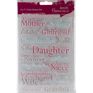 """Papermania Clear Stamps 5""""X7""""-Relations"""