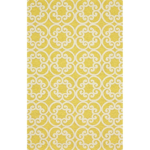Grand Bazaar Tufted Polypropylene Salvaje Rug in Maize - 5' x 8'