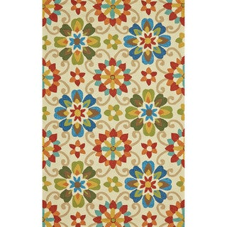 Grand Bazaar Tufted Polypropylene Salvaje Rug in Multi 5' x 8'