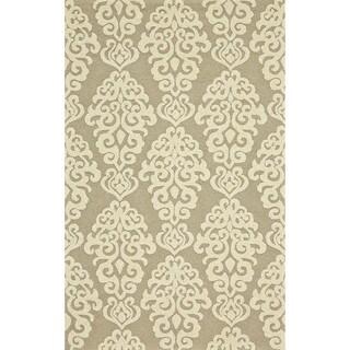 Grand Bazaar Tufted Polypropylene Salvaje Rug in Slate (5' x 8')