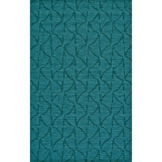 Grand Bazaar Hand Woven 100-percent Wool Pile Rigby Area Rug in Teal (5' x 8')