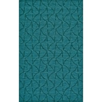 Grand Bazaar Hand Woven 100-percent Wool Pile Rigby Rug in Teal - 5' x 8'