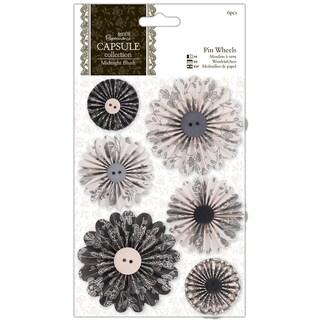 Papermania Midnight Blush Pinwheels 6/Pkg